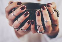 {Nails + Rings} / by Rebecca Hazelwood
