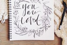 {Paintings + Lettering} / by Rebecca Hazelwood