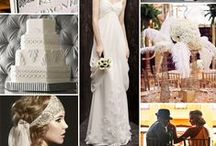 My Art Deco/Old Hollywood Wedding Inspiration Board / 1920's - prohibition - old hollywood - glam - DIY - wedding and inspiration board.