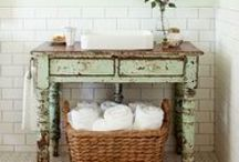 Beautiful Bathroom Ideas / Beautiful bathroom inspiration and ideas for redoing a bathroom on a budget. / by Carrie Spalding @ Lovely Etc.