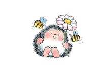 Hedgehog & friends - Penny Black