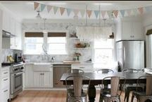 Gorgeous Kitchens / Beautiful kitchen inspiration - ideas for a budget kitchen renovation / by Carrie Spalding @ Lovely Etc.