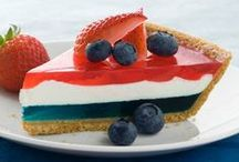 Patriotic Recipes / These patriotic dessert recipes are perfect for your 4th of July star-spangled celebrations!  / by Kraft Recipes