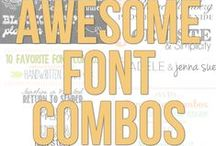 Fabulous Free Fonts / Awesome free fonts / by Carrie Spalding @ Lovely Etc.