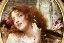 Artists:  Tadema / Sir Lawrence Alma-Tadema (1836-1912) was born in Belgium but moved to England in 1870 and spent the rest of his life there. He is my favorite classical artist. After his death his works fell into disrepute only to be rediscovered and reevaluated in the 1960's. Thank God!   / by Lynne Wedeen