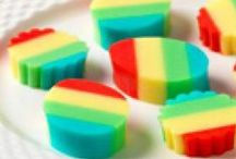 Rainbow Recipes / Brighten up your meals with an assortment of colorful foods. Try out these rainbow recipes for appetizers, dinner dishes and desserts that are sure to bring some color into your home.