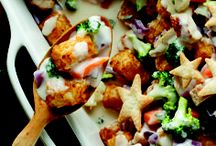 """Totchos Recipes / You may be wondering, """"what are Totchos?"""" They're deliciously crisp ORE-IDA TATER TOTS dressed like nachos with toppings ranging from gooey cheese, ground beef, and sour cream to salsa, olives, and jalapeños."""