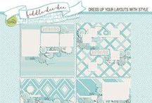 FDD   Dressed Up Templates / Dress up your layouts with style using fabulously detailed templates by Fiddle-Dee-Dee Designs in the full page style you know and love.