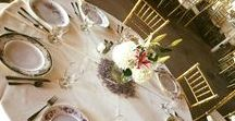 Table Service / China and disposable table service available with our catering.