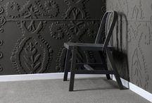 Black/Charcoal Grey/Navy /  Dark walls / by Bingley