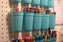 Craft Room Organization and Storage / Keep your craft space organized and beautiful with these tricks and DIY projects.