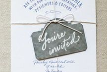 """lovin' stationery / graphic design inspiration // graphic design ideas // layout and creativity for lovely + inspiring stationery design: invitations, announcements, save the dates, thank yous, wedding invitation suites curated by the LisaVdesigns studio in SW Ohio for engaged couples, brides, expecting parents, and other """"party throwers"""""""