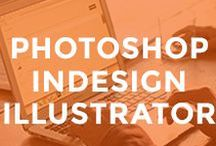- PHOTOSHOP + INDESIGN + ILLUSTRATOR - / photoshop tips, illustrator tips, indesign tips, adobe creative cloud, quick tips for photoshop illustrator indesign, keyboard shortcut, how to start using, how to learn, how to create, how to design, tutorials, tutoriels, photoshop tools, photoshop elments actions, how to make a printable