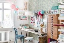 Studio & Office / A studio is a must for any successful artist or crafter. Here are some of our dream studios and creative work spaces. If only we could work in all of these!