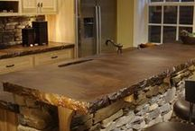 All things KITCHEN / Ideas for counter tops, cabinets, organizing etc. / by Sandra Mercer