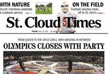 St. Cloud Times Aug. 13, 2012 / The 2012 Summer Olympics closign ceremoniers was the lead story on Aug. 13. / by St. Cloud Times newspaper/online