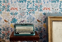 Wallpaper / by Corinne Kowal @emeraldgreeninteriors.com