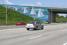 "Artists Create Murals for RI Beautificaton Program / ""This highway beautification program has the potential to strengthen tourism and promote economic development, while also improving the aesthetic character of our State's urban highways,"" said Rhode Island Department of Transportation (RIDOT) Director Michael P. Lewis."
