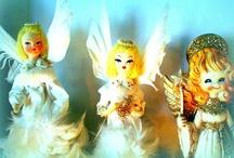vintage xmas angels / by Helenedeer