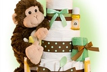 Neutral Diaper Cakes / The best selection of unique gender neutral baby diaper cakes and baby shower gifts in many styles. Great gift ideas for new baby and delight the new parents / by Lil' Baby Cakes