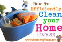Cleaning / Recipes, tips, and ideas for cleaning our home.