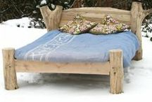 Driftwood Beds / Here are some driftwood beds we have made from wood collected along the welsh coastline.