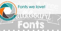 Fonts we love! / Our fonts, your fonts, ALL the fonts! This is about fabulous fonts & where to find them.