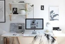 WORK SPACE / Decoration and interior design ideas for home office spaces.