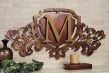 Monogram Wall Grilles / Reflect your family name and your good taste with a monogram wall grille. These metal accents may be displayed indoors or outdoors and feature an initial surrounded by scrolls and classic flourishes. / by Touch of Class