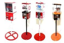 Custom Gumball Machine / at Custom Gumball Machines Each machine is completely restored, All machines are sanded, cleaned, and painted, themed with high quality Vinyl Decals, to match theme of each individual machine. since every machine is made at order, we can change color combination and decals per to your request.we have samples of themes that have already been made, but feel free to contact us with any theme you are interested in.we will show you a design to get you an idea of how your machine will look like.