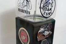 Gift ideas / order your own custom gumball machine, any theme, any color, one with your business logo, one for your office with your favorite band, your school, sport team. send us your pictures, we can create any idea to a beautiful gumball/ candy machine. they are a great decoration piece, and an amazing way to make extra income at your business.