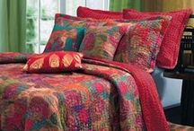 Jewel-Toned Home Decor / Give your home a sumptuous, luxe look with jewel-toned bedding and home decor. These colorful home accents feature rich gem tones like amethyst purple, topaz, and ruby. / by Touch of Class