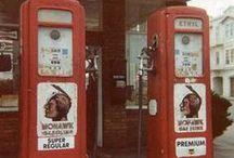 vintage gasoline stations