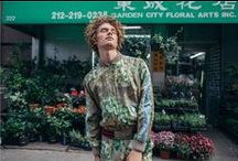 """Gucci Cruise 2016 Collection HypeBeast Editorial / """"Ideal for the transition into spring, the latest Cruise range boasts everything from polos, sweaters, and lightweight outerwear to bags, footwear and more. As for print design; the GG Blooms overlay, found prominently on a Bomber Jacket and pair of shorts, utilizes an all-over print with shades of green that hints at a bit of leisure and sportiness. The Caleido print, however, is a kaleidoscopic pattern that uses a geometric design scheme as a playful take on the GG-logo motif."""" / by gucci"""