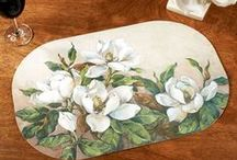 Magnolia Home Accents / Showy yet sophisticated, the magnolia symbolizes nobility, perseverance, purity, and beauty. Cultivate a graceful aesthetic in your home with this blossoming floral decor. / by Touch of Class