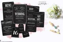 WEDDING INVITATIONS & STATIONERY / Beautiful designer invitations and stationery for your wedding inspo!