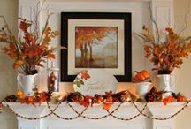 Autumn Mantels / Celebrate the start of the fireplace season and the changing color of the leaves by updating the mantel decor.