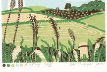 farmland art ♥ / wide, rolling landscapes and rural livin'.  close to my heart.