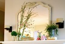 Vivacious Spring Mantels / The fireplace may not get as much use in the spring season but it still needs some love!  Here is some inspiration to jazz up your spring mantle.