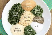 HOMEMADE SEASONINGS / Ditch MSG and artificial flavors and fillers and save money by making your own Homemade Seasonings.