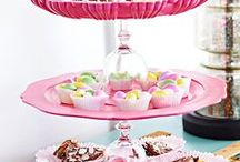 Party DIY Cupcake Stands & Cake Stands / Lots of party ideas to create a DIY cupcake stand, DIY cake stand, DIY cakepop stand, and other party stand ideas.