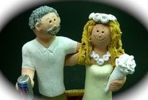 Videos of Custom Wedding Cake Toppers / Videos of many different categories of custom made wedding cake toppers created by http://www.magicmud.com all hand sculpted to clients specifications call 1 800 231 9814  or email magicmud@magicmud.com