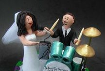 Drummers Wedding Cake Toppers / Drummer's Wedding Cake Toppers....custom made cake toppers, sculpted by hand to your specifications....perfect wedding gift, keepsake and cake topper for the nuptials of a drummer!... ...any style of personalized figurine can be created to your specifications.... an original gift for weddings, birthdays, graduations, retirements, anniversaries, promotions or any special event!! PS...these unique handmade statues dont have to be used as caketoppers!!...they are great sculptures on their own !!!