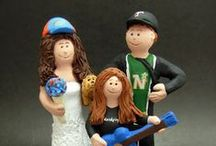 "Mixed / Blended Step-Family Wedding Cake Toppers / Here are a collection of custom made figurines for blended, mixed, or step families.... it isn't easy to find the caketopper that has the right combination of people, age, gender and look of the family.....much more than that is possible here....    If weddings are all about family, then what better way to commemorate and not leave anyone ""out of the picture""...? www.magicmud.com      1 800 231 9814"