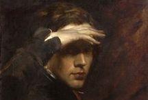 Portrait of an artist painting his self-portrait / by Silvia De Vecchi