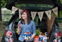 Jill Goes Tailgating / Represent your college or university colors with Jill's pieces and then get tailgating!