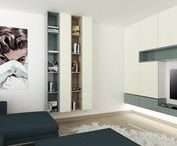 Kitchen/living room/bedroom/kid's room/hall