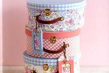 Fabric covered boxes / by Tatjana Hobrlant