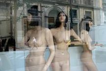 "Fake Humans photobook / Nude mannequins stand in their glass cages and they want to shout: "" Get me out of here!"""