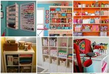 CRAFT ROOM / organization and storage ideas for sewing and craft rooms